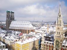 Monaco a Natalela Baviera da cartolina