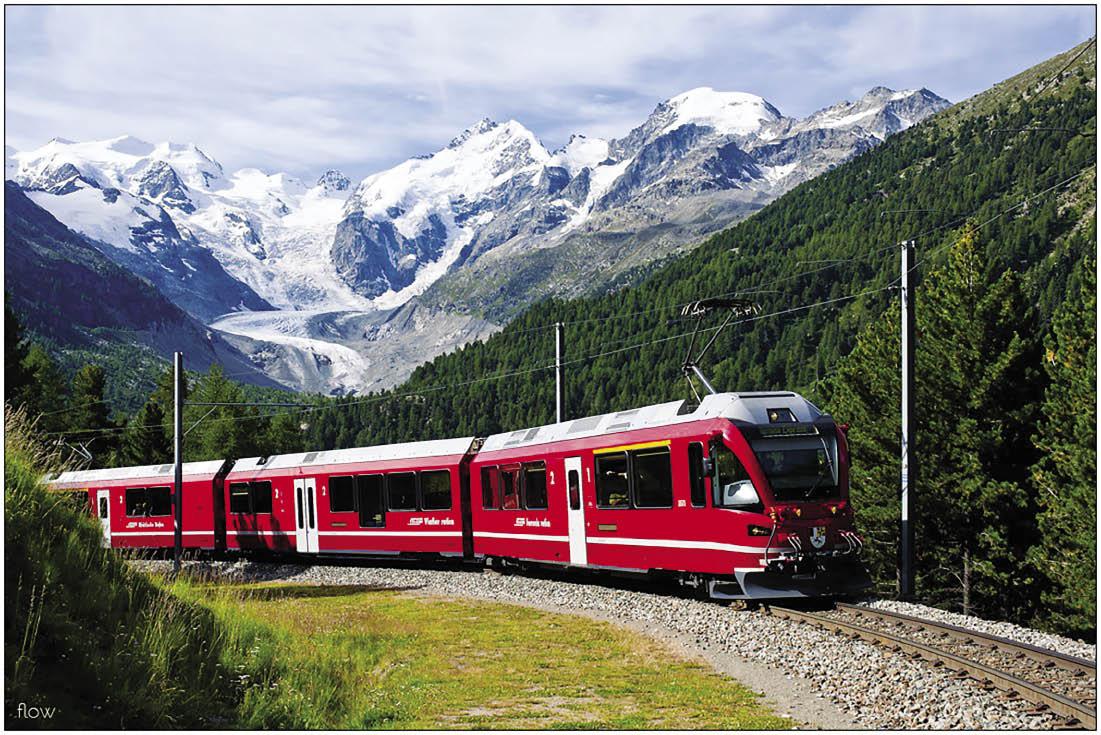 Bernina Express e la casa di Heidi